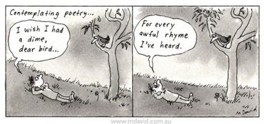 Bad poetry cartoon