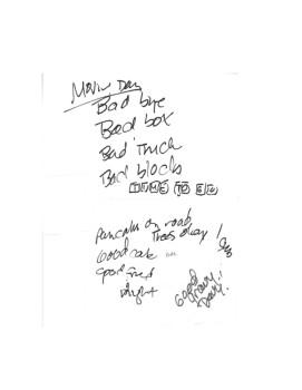 Bad Bye Notes