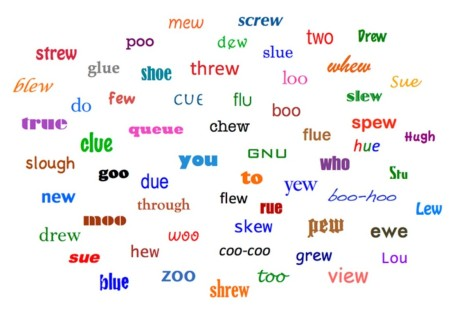 Rhyming word collage