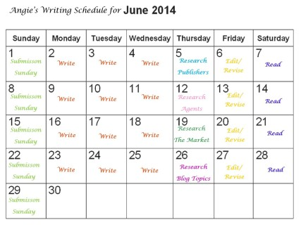 Writing Schedule for June