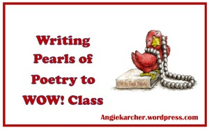 Writing Pearls of Poetry to WOW image