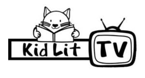 KidLit TV blk-white logo