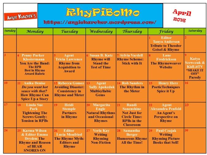 RhyPiBoMo 2016 Calendar
