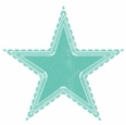 One blue star