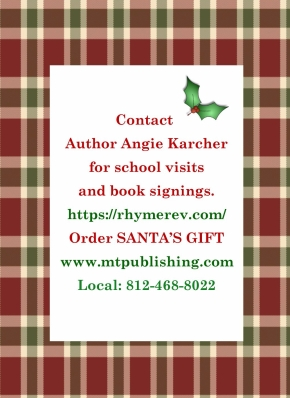 Santa's Gift postcard back
