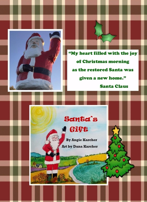 Santa's Gift Postcard front
